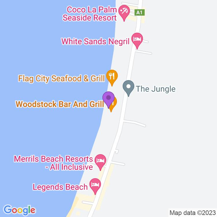 Map showingRootsbamboobeach