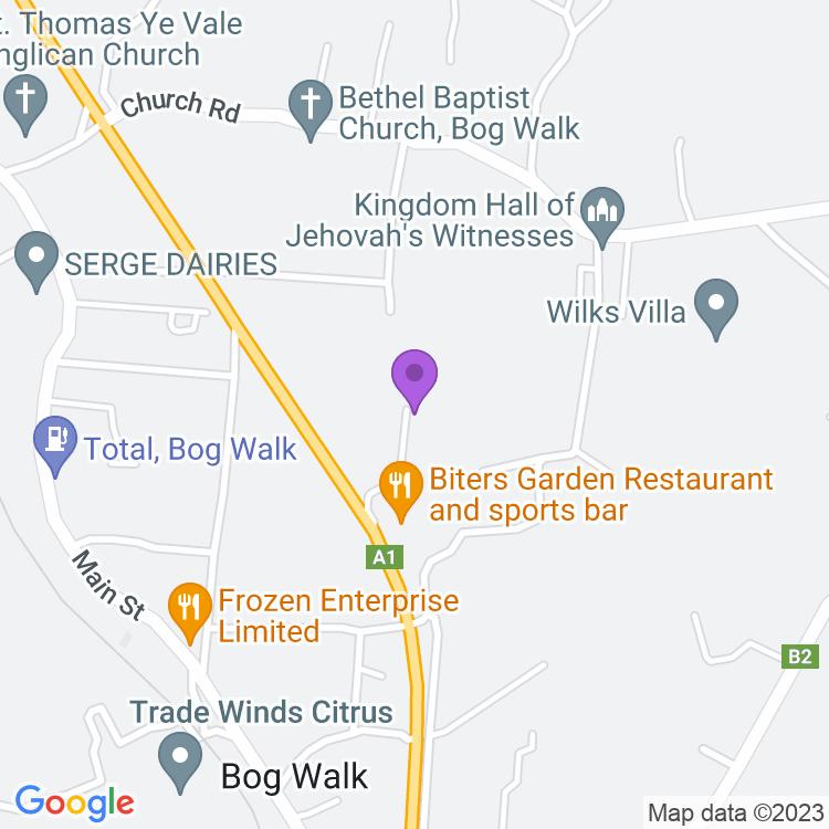 Map showingBiters Garden Restaurant & Sports Bar