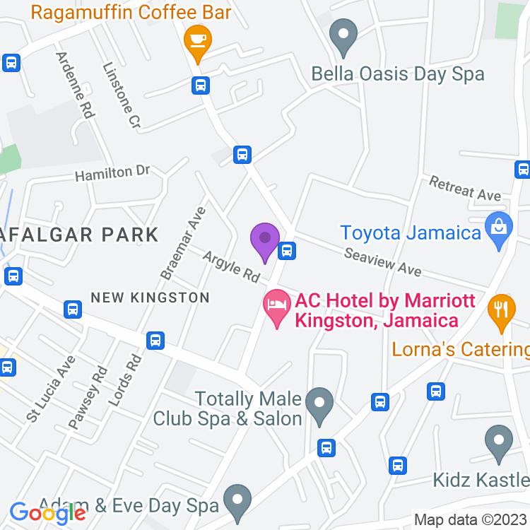 Map showingEden Gardens Wellness Resort & Spa Jamaica