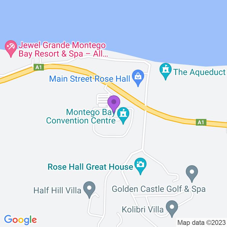 Map showingMontego Bay Convention Centre