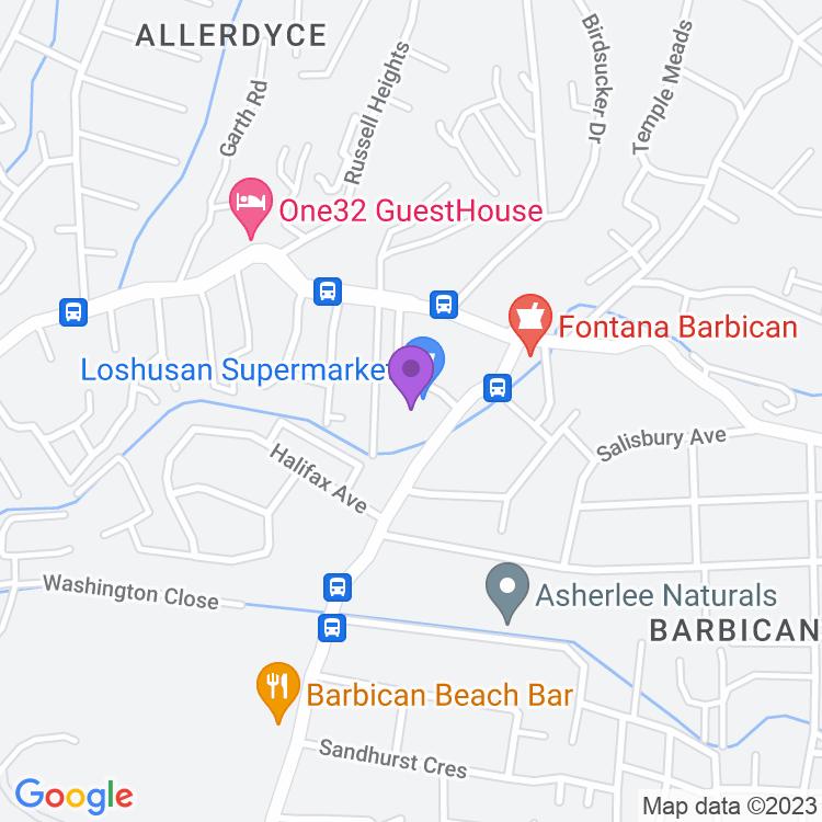 Map showingRibbiz UltraLounge
