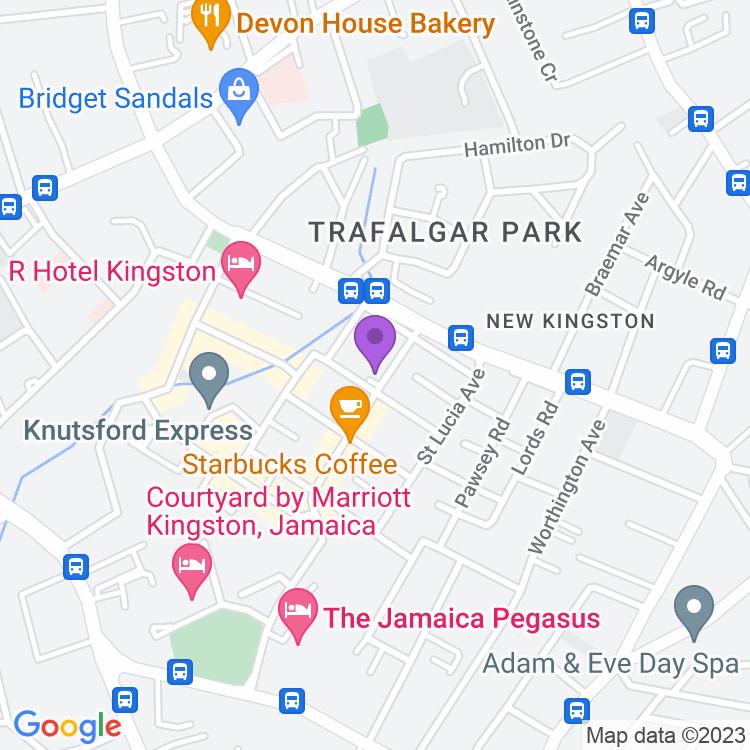 Map showingEscape 24/7 Bar & Grill