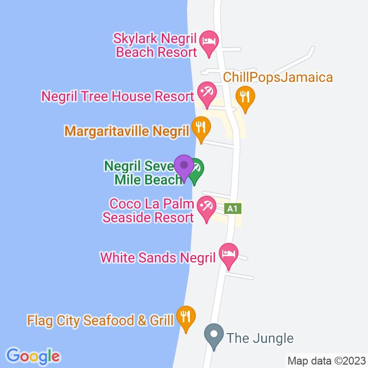 Map showingWoodstock Bar and Lobster Shack