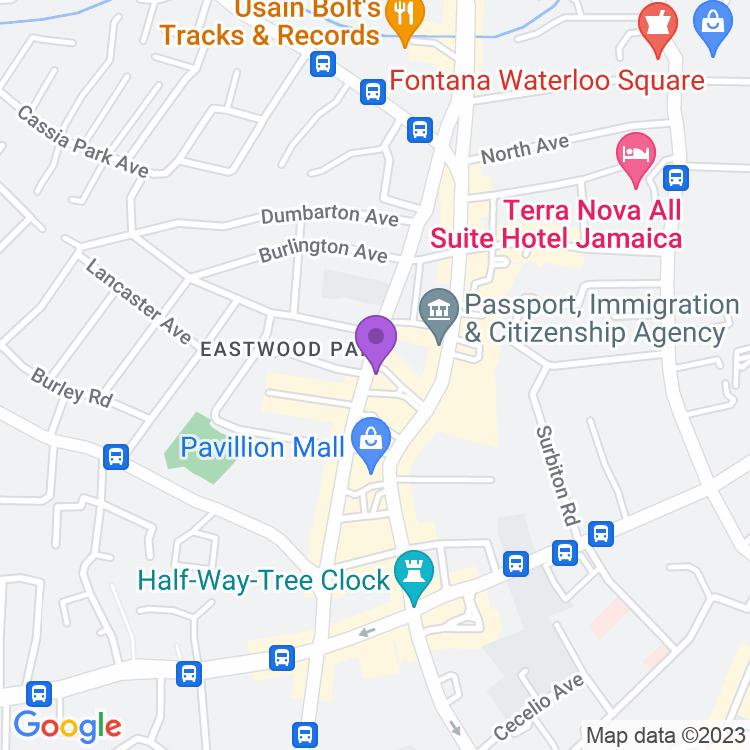 Map showingA-bar Restaurant & Lounge
