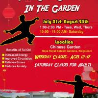 Tai Chi Classes In The Garden