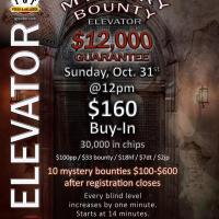 Mystery Bounty Elevator Tournament at TGT Poker & Racebook
