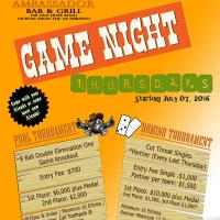 Game Night Thursdays
