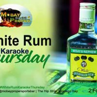 White Rum Karaoke Thursday