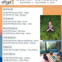 Afya Yoga Studios Weekly Sessions